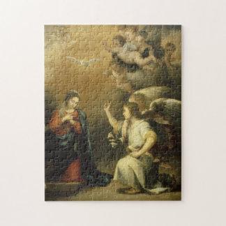 Puzzle Annunctiation, casse-tête religieuse de beaux-arts