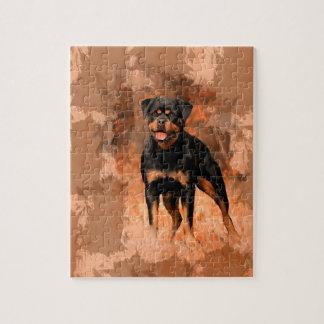 Puzzle Art d'aquarelle de peinture à l'huile de chien de