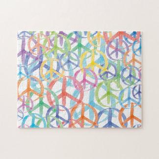 Puzzle Art de symboles de paix
