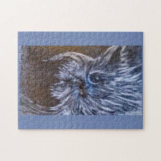 Puzzle Art d'imaginaire de chat de bleus par le cfw