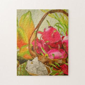 Puzzle Art original d'aquarelle de la vie de fruit