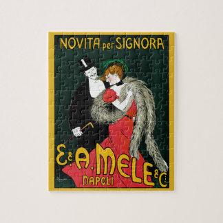 Puzzle Art vintage Nouveau, amour italien de mode Romance