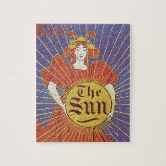 Puzzle Art vintage Nouveau, journal de New York Sun