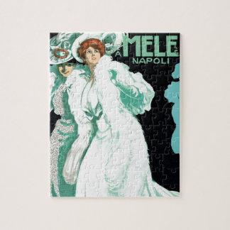 Puzzle Art vintage Nouveau, mode de l'Italie et femmes de