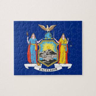 Puzzle avec le drapeau de l'état de New-York