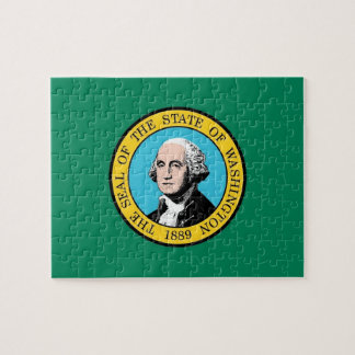 Puzzle avec le drapeau de l'état de Washington