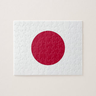 Puzzle avec le drapeau du Japon