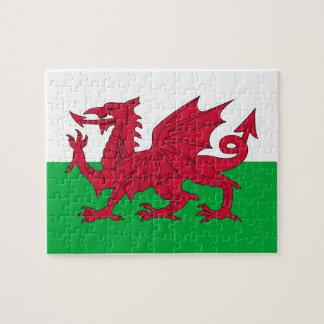 Puzzle avec le drapeau du Pays de Galles