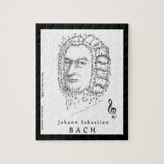 Puzzle Bach font face à la musique