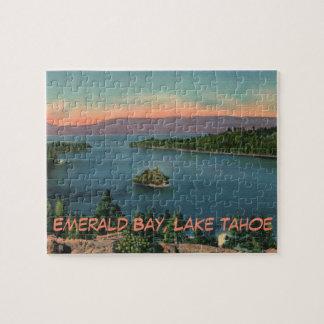 Puzzle Baie vintage d'émeraude du lac Tahoe