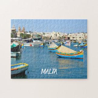 Puzzle Bateaux traditionnels de vue pittoresque de Malte