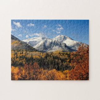 Puzzle Bâti Timpanogos en montagnes de l'Utah d'automne