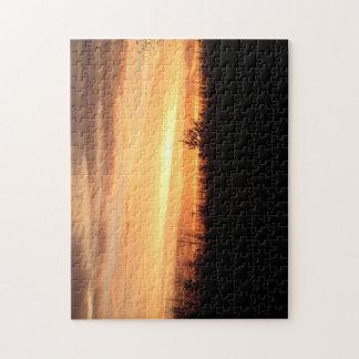 Puzzle Beau coucher du soleil du Nébraska