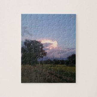 Puzzle Beau nuage rougeoyant