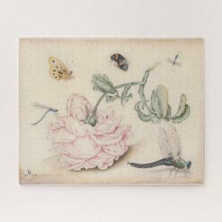 Puzzle Beaux-arts vintages avec un pâle - rose et