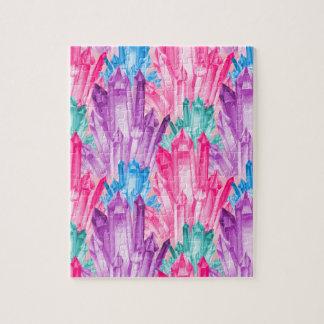 Puzzle Beaux cristaux en pastel colorés pour la fille de