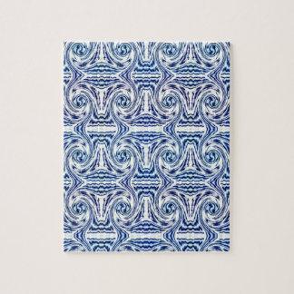 Puzzle bleu de formes