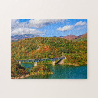 Puzzle Bois coloré d'automne de pont