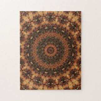 Puzzle Brown complexe et mandala bronzage