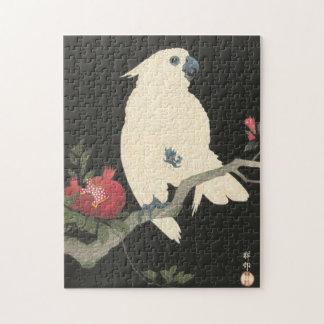 Puzzle Cacatoès japonais vintage de beaux-arts