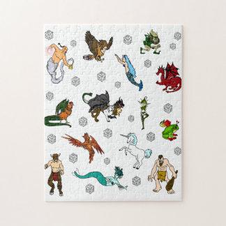 Puzzle Cachot et matrices et créatures de dragons