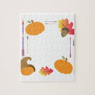 Puzzle Cadre de thanksgiving
