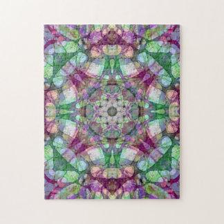 Puzzle Canneberge et kaléidoscope vert de mandala de