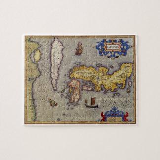 Puzzle Carte antique du Japon par Mercator et Hondius,
