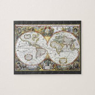 Puzzle Carte antique du monde par Hendrik Hondius, 1630