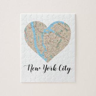 Puzzle Carte de coeur de New York City