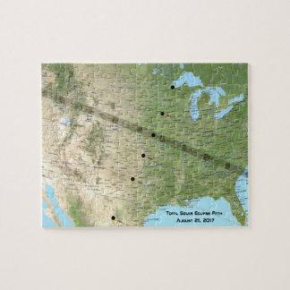 Puzzle Carte totale 2017 de chemin d'éclipse solaire