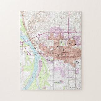 Puzzle Carte vintage de Bismark le Dakota du Nord (1962)