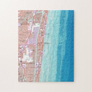 Puzzle Carte vintage de plage la Floride (1962) de