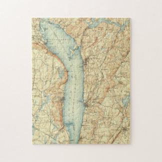Puzzle Carte vintage de Tarrytown NY et du fleuve Hudson