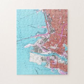 Puzzle Carte vintage d'Oakland la Californie (1959)
