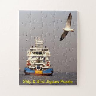 Puzzle Casse-tête de bateau et d'oiseau