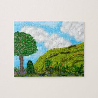 Puzzle Casse-tête de colline et d'arbre