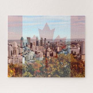 Puzzle Casse-tête d'horizon de ville de Montréal Canada