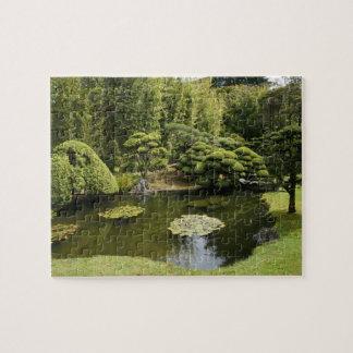 Puzzle Casse-tête japonaise d'étang de jardin de thé de