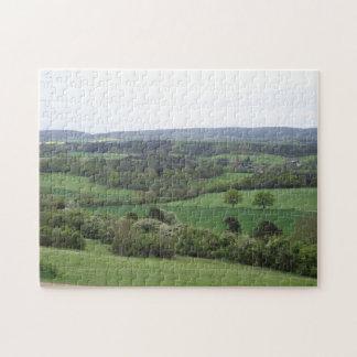 Puzzle Casse-tête verte et agréable de terre