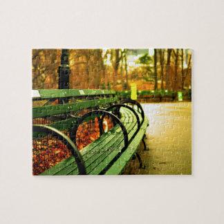 Puzzle Central Park de banc de parc dans l'automne