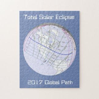 Puzzle Chemin global de l'éclipse solaire 2017 totaux