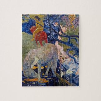 Puzzle Cheval blanc par Gauguin, art vintage