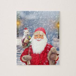 Puzzle Chien esquimau américain de cadeaux de Noël du