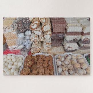 Puzzle Chocolat, nougat, biscuits, bonbons