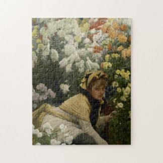 Puzzle Chrysanthèmes par des beaux-arts de James Tissot