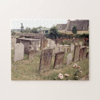 Puzzle Cimetière, tombes de pierres tombales de la