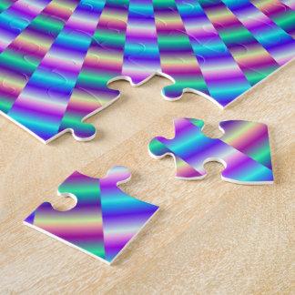 Puzzle circulaire bleu et rose de liens