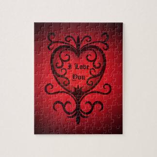 Puzzle Coeur romantique d'amour