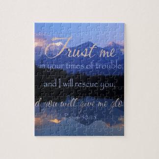 Puzzle Confiance dans moi en période du 50:15 de psaumes